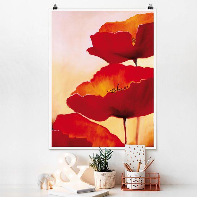 Poster - Poppy Family - Hochformat 3:4