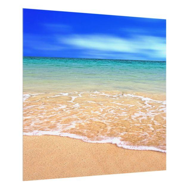 Glas Spritzschutz - Indian Ocean - Quadrat - 1:1
