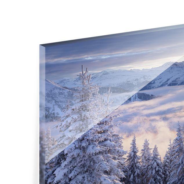 Glas Spritzschutz - Blick in die Hohen Tauern vom Kreuzkogel Österreich - Querformat - 4:3
