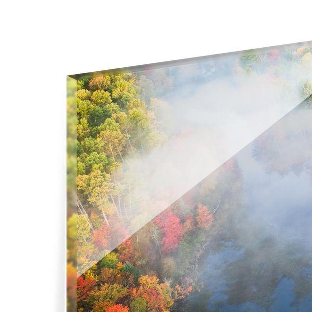 Glas Spritzschutz - Luftbild - Herbst Symphonie - Querformat - 4:3