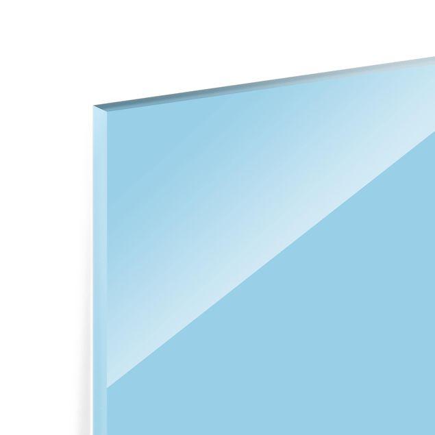 Glas Spritzschutz - Pastellblau - Querformat - 4:3