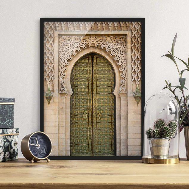 Bild mit Rahmen - Oriental Gate - Hochformat 3:4