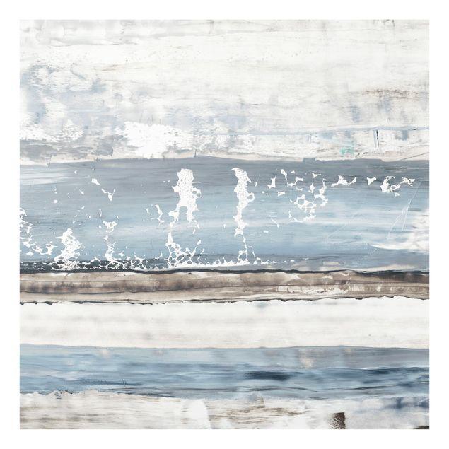 Glas Spritzschutz - Eisiger Horizont I - Quadrat - 1:1