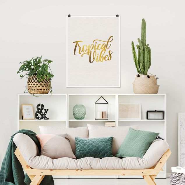 Poster - Gold - Tropical Vibes - Hochformat 4:3