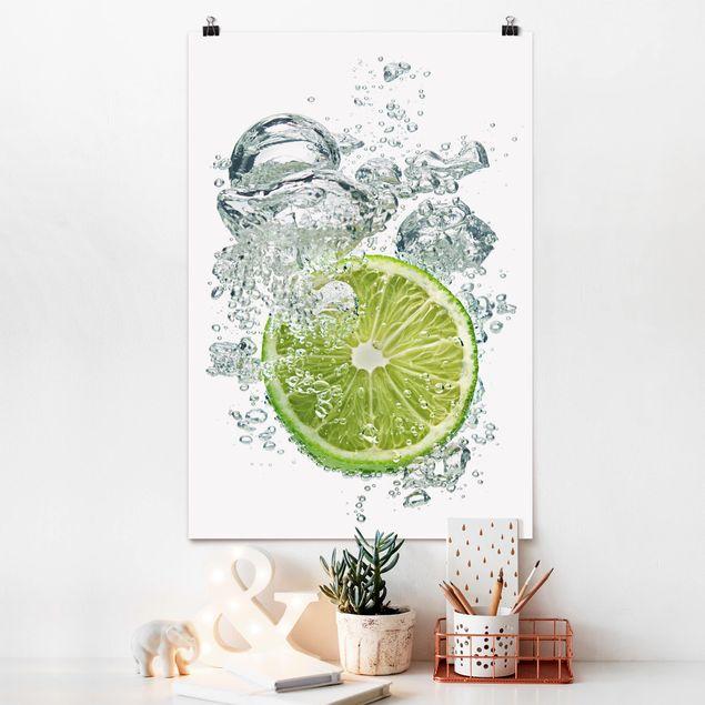 Poster - Lime Bubbles - Hochformat 3:2