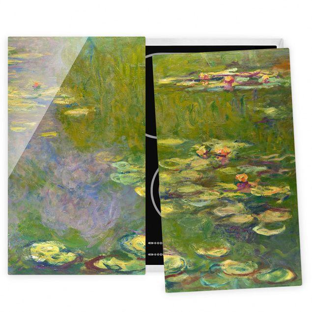 Herdabdeckplatte Glas - Claude Monet - Grüne Seerosen - 52x80cm