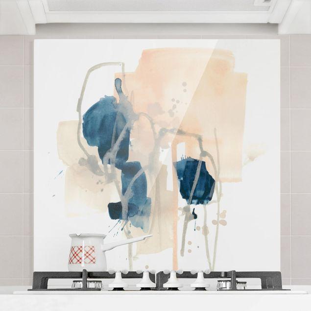 Glas Spritzschutz - Azurit I - Quadrat - 1:1