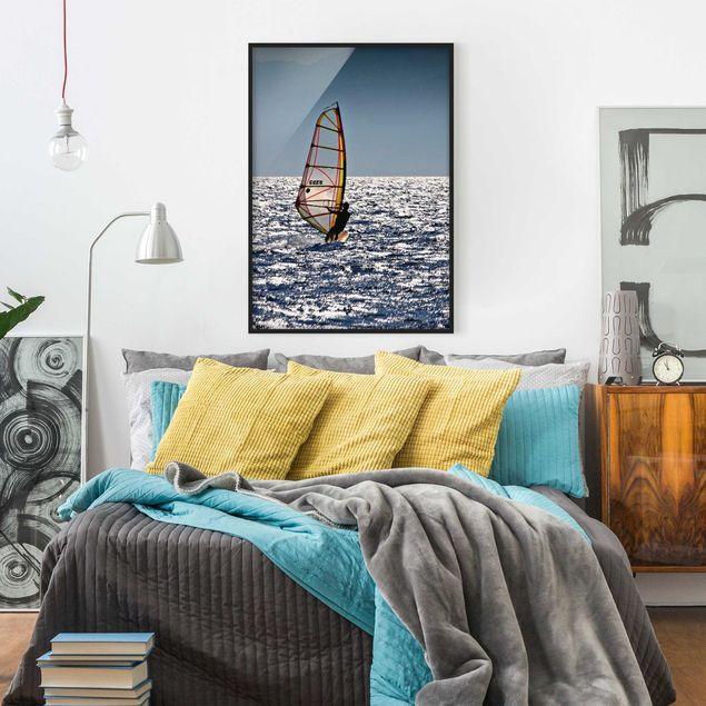 Bild mit Rahmen - Surfing Free - Hochformat 3:4