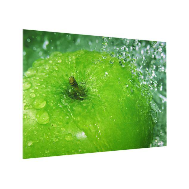 Glas Spritzschutz - Green Apple - Querformat - 4:3