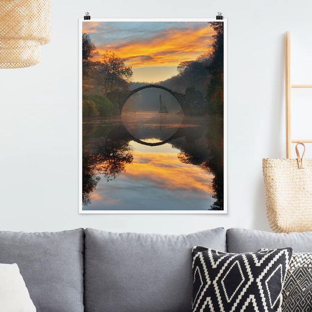Poster - Märchenbrücke - Hochformat 3:4
