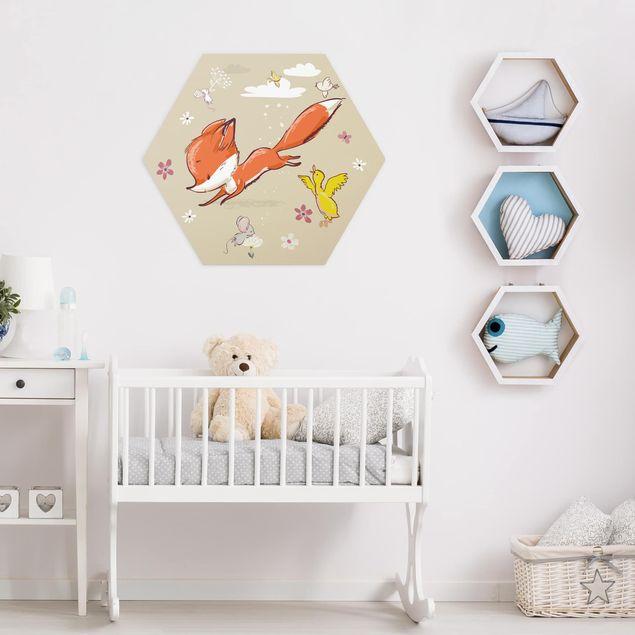Hexagon Bild Alu-Dibond - Komm wir spielen