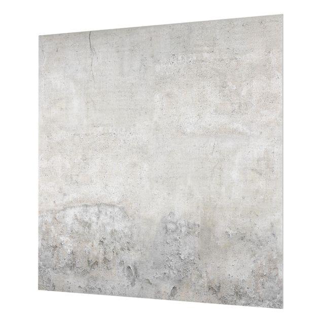 Glas Spritzschutz - Shabby Betonoptik - Quadrat - 1:1