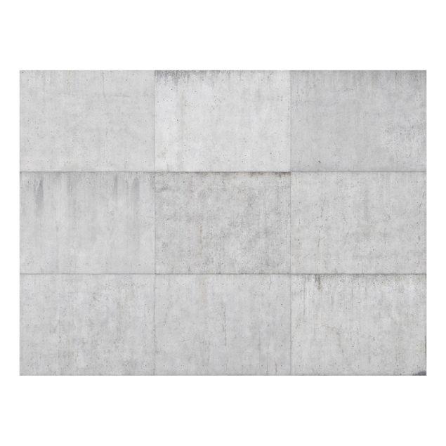 Glas Spritzschutz - Beton Ziegeloptik grau - Querformat - 4:3