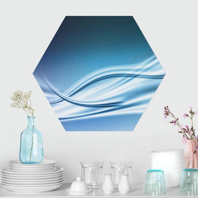 Hexagon Bild Alu-Dibond - Abstract Design