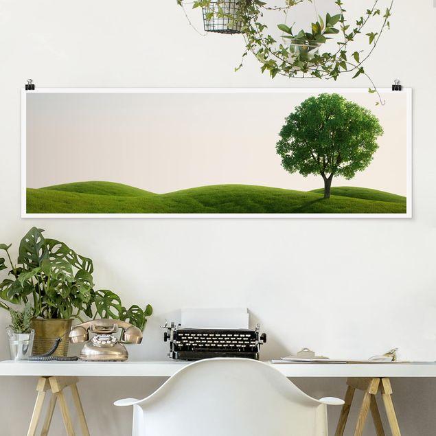 Poster - Grüne Ruhe - Panorama Querformat