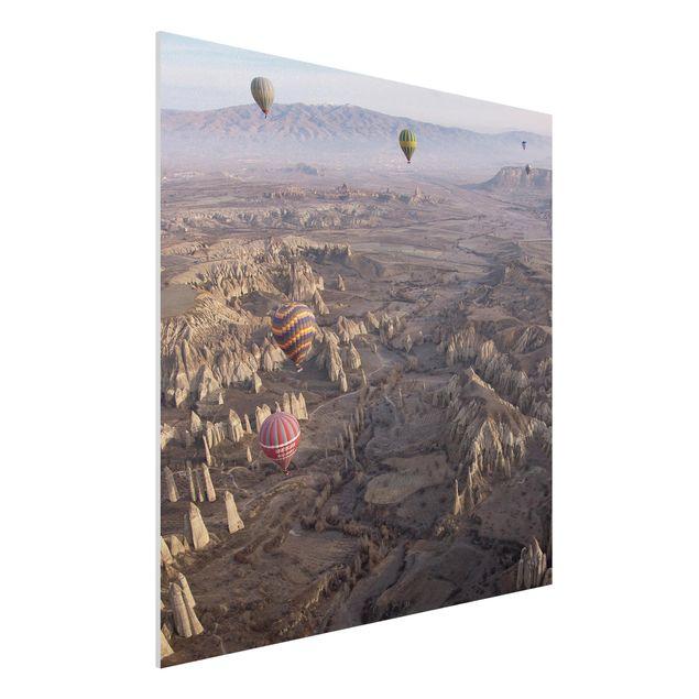 Forex Fine Art Print - Heißluftballons über Anatolien - Quadrat 1:1