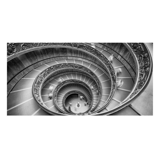 Leinwandbild - Bramante Treppe - Querformat 2:1