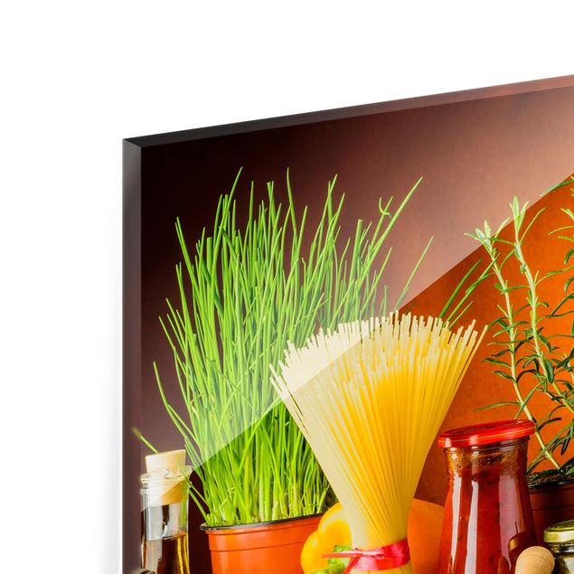 Spritzschutz Glas - Italienische Küche - Querformat - 3:2