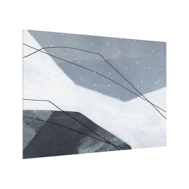 Glas Spritzschutz - Punkte im Dialog II - Querformat - 4:3