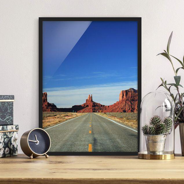 Bild mit Rahmen - Colorado-Plateau - Hochformat 3:4
