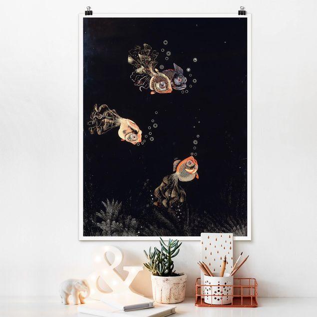 Poster - Jean Dunand - Unterwasser Szene - Hochformat 3:4