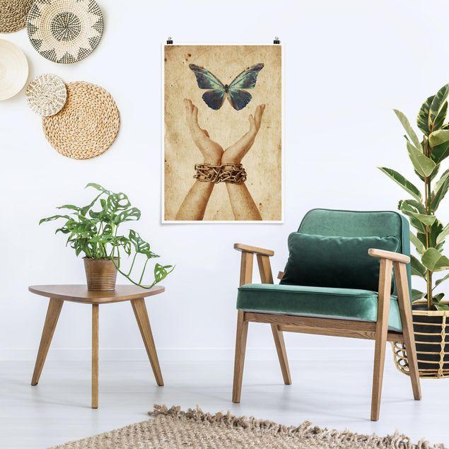 Poster - Flieg, Schmetterling! - Hochformat 3:2