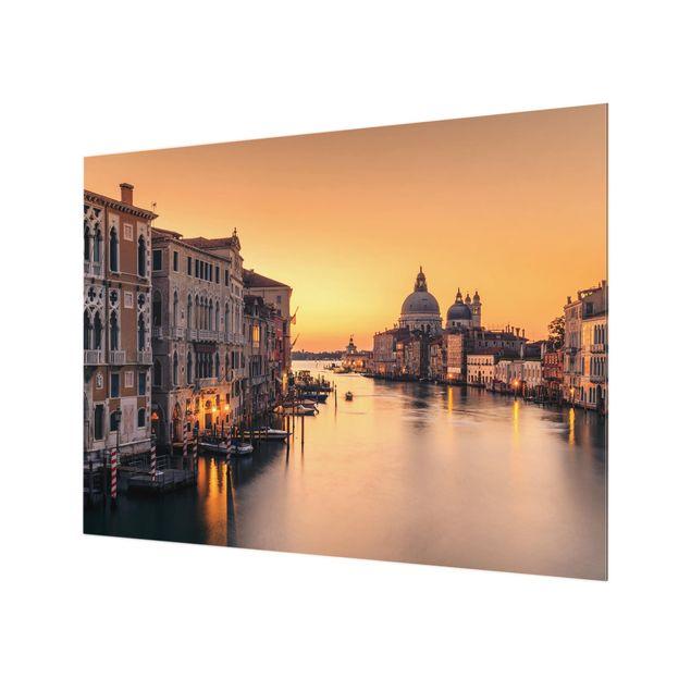 Glas Spritzschutz - Goldenes Venedig - Querformat - 4:3