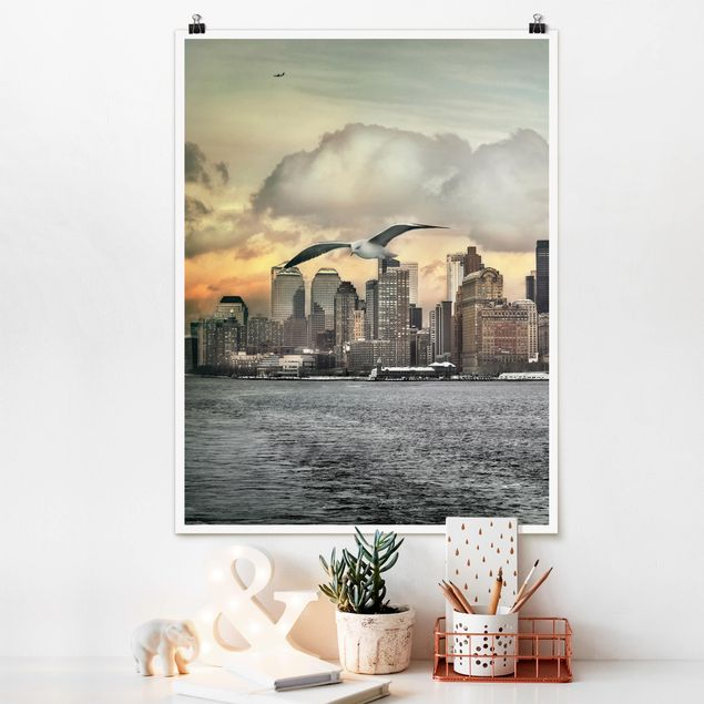 Poster - No.YK1 New York - Hochformat 3:4
