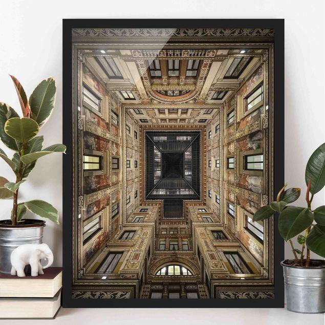 Bild mit Rahmen - Galleria Sciarra in Rom - Hochformat 3:4
