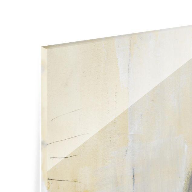 Glas Spritzschutz - Dreiklang mit Tigerauge I - Quadrat - 1:1