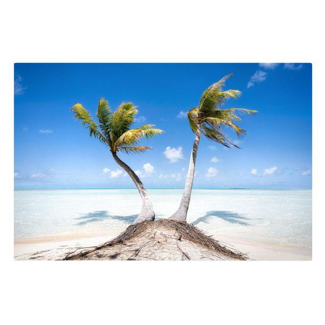 Leinwandbild - Urlaub unter Palmen - Querformat 3:2