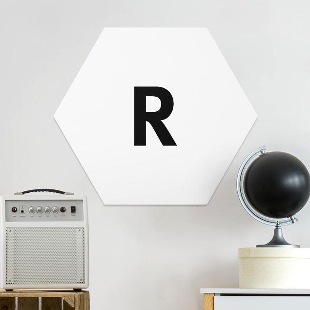 Hexagon Bild Forex - Buchstabe Weiß R