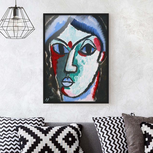 Bild mit Rahmen - Alexej von Jawlensky - Portrait eines Mannes - Hochformat 3:4