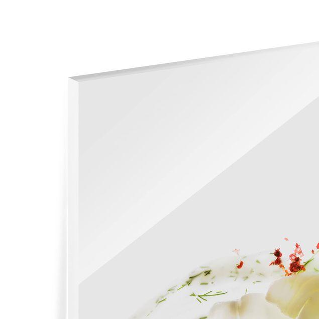 Glas Spritzschutz - Fischkreation - Quadrat - 1:1