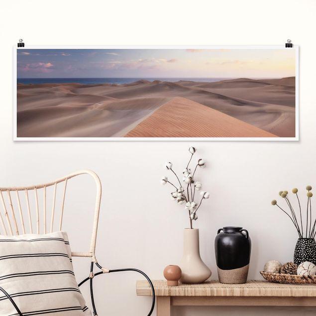 Poster - Dünenblick - Panorama Querformat