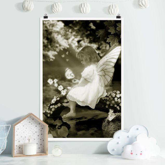 Poster - Elfenkind am Märchenfluss - Hochformat 3:2