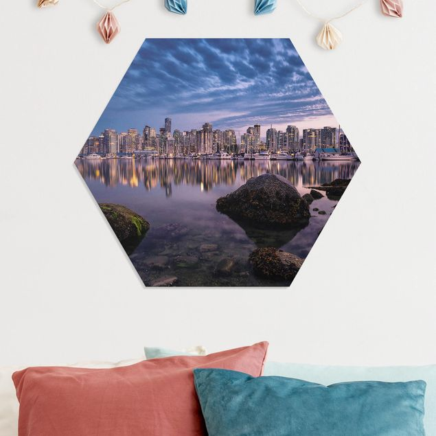 Hexagon Bild Forex - Vancouver im Sonnenuntergang