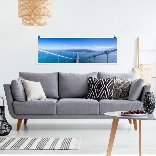 Poster - Brücke zur Insel - Panorama Querformat