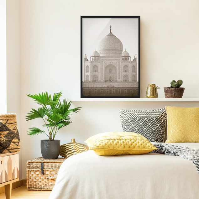 Bild mit Rahmen - Taj Mahal - Hochformat 3:4