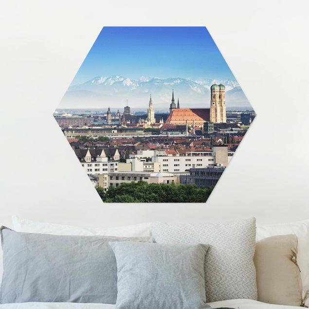 Hexagon Bild Alu-Dibond - München