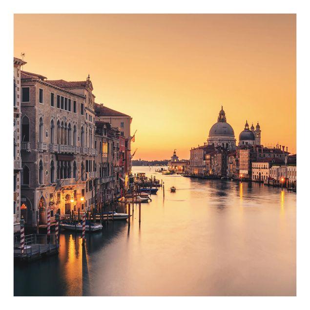 Glas Spritzschutz - Goldenes Venedig - Quadrat - 1:1