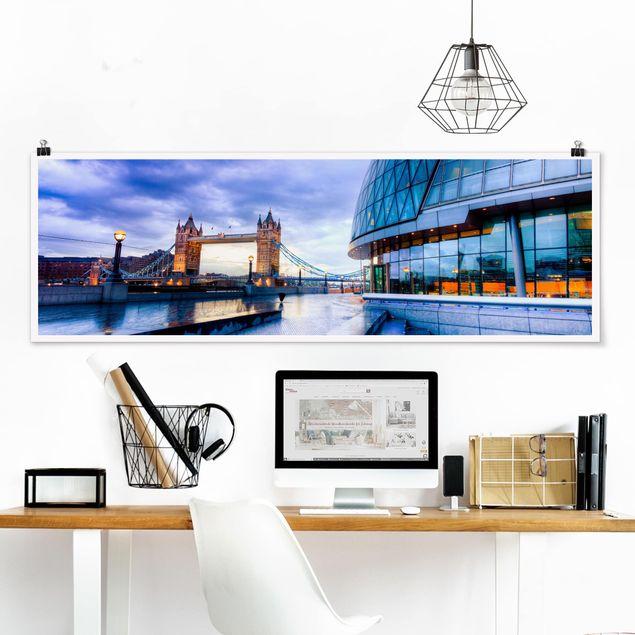 Poster - Cityhall London - Panorama Querformat
