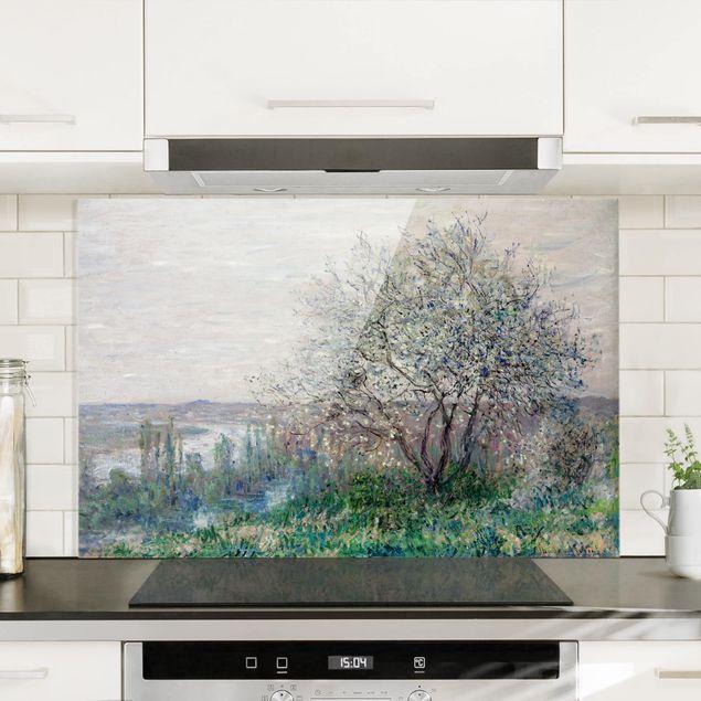 Spritzschutz Glas - Claude Monet - Frühlingsstimmung - Querformat 2:3