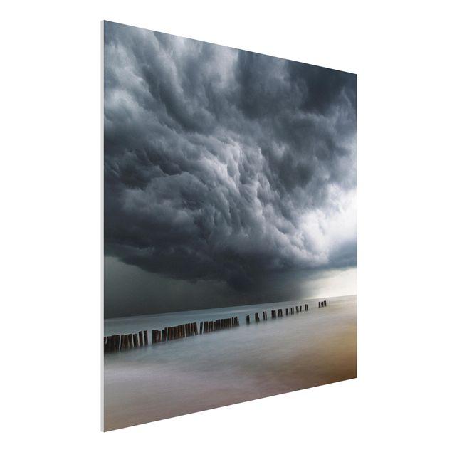 Forex Fine Art Print - Sturmwolken über der Ostsee - Quadrat 1:1