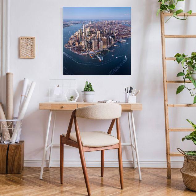 Leinwandbild - Big City Life - Quadrat 1:1