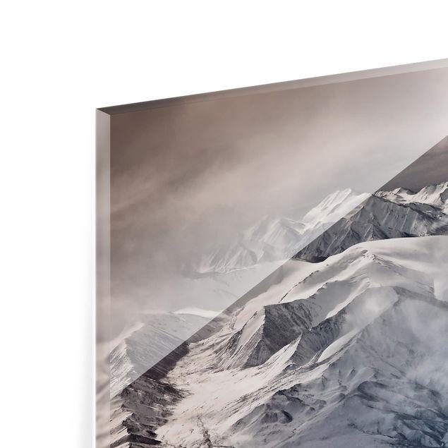 Glas Spritzschutz - Berge von Tibet - Quadrat - 1:1