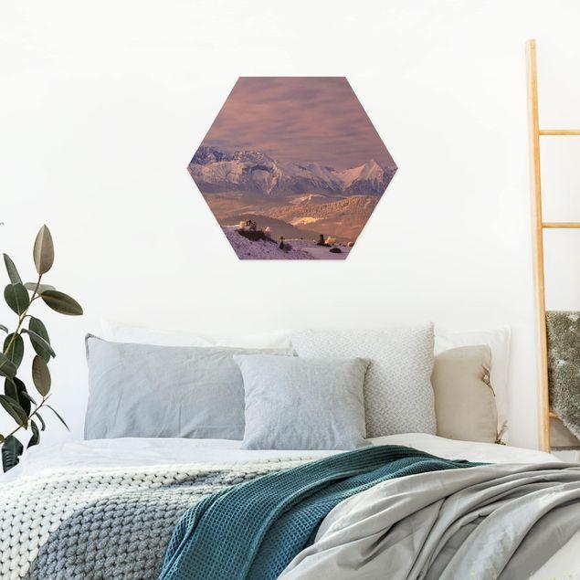 Hexagon Bild Forex - Hohe Tatra am Morgen