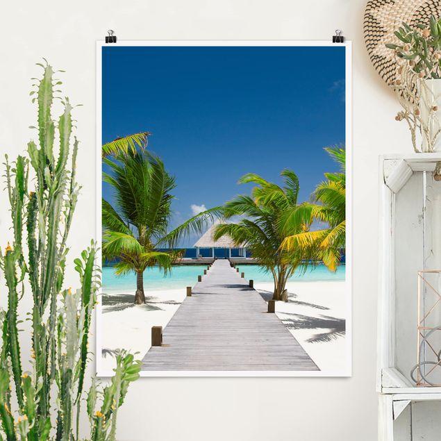 Poster - Catwalk To Paradise - Hochformat 3:4