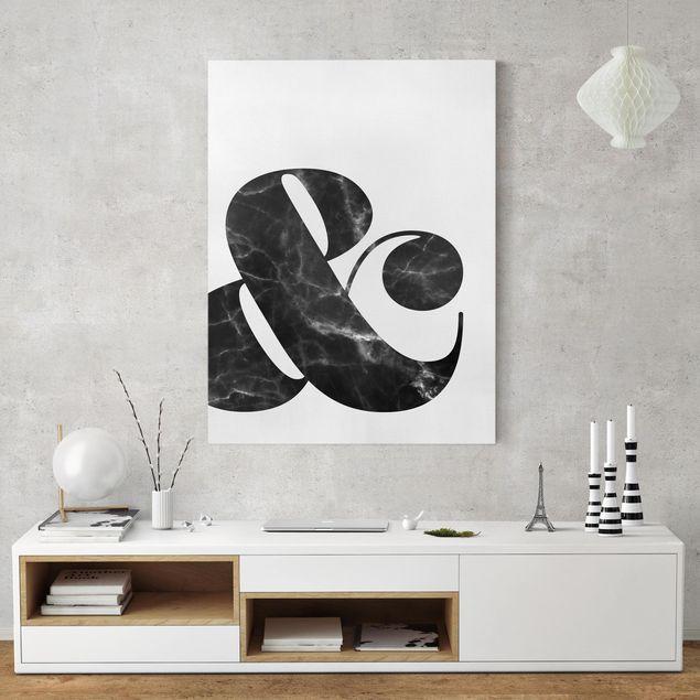 Leinwandbild - Ampersand Marmor - Hochformat 4:3