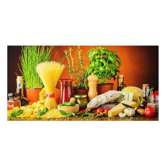 Spritzschutz Glas - Italienische Küche - Querformat - 2:1